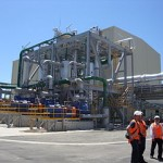 The Mighty River Power 100MW geothermal power plant at Tasman Mill, Kawerua, NZ